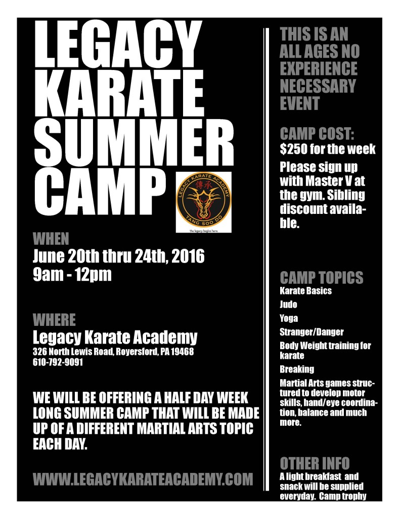 2016 summer camp flyer